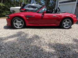 2002 BMW M Roadster in Imola Red 2 over Black Nappa