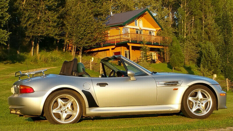 1998 BMW M Roadster in Arctic Silver Metallic over Evergreen & Black Nappa