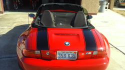 1998 BMW M Roadster in Imola Red 2 over Black Nappa