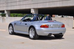 1998 BMW M Roadster in Arctic Silver Metallic over Estoril Blue & Black Nappa