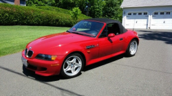 1998 BMW M Roadster in Imola Red 2 over Imola Red & Black Nappa