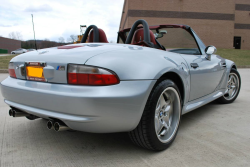 1999 BMW M Roadster in Arctic Silver Metallic over Imola Red & Black Nappa