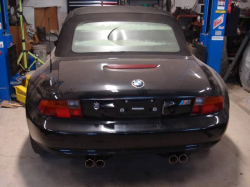 1998 BMW M Roadster in Cosmos Black Metallic over Estoril Blue & Black Nappa