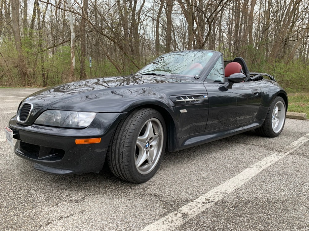 2000 BMW M Roadster in Cosmos Black Metallic over Imola Red & Black Nappa