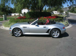 2000 BMW M Roadster in Titanium Silver Metallic over Imola Red & Black Nappa