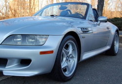 2000 BMW M Roadster in Titanium Silver Metallic over Estoril Blue & Black Nappa