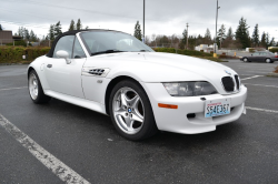 2001 BMW M Roadster in Alpine White 3 over Laguna Seca Blue & Black Nappa