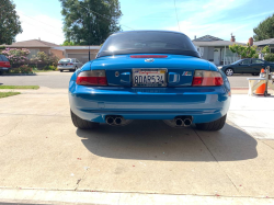 2001 BMW M Roadster in Laguna Seca Blue over Laguna Seca Blue & Black Nappa