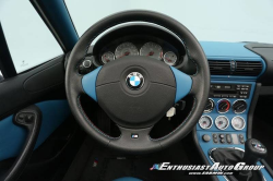 2001 BMW M Roadster in Black Sapphire Metallic over Laguna Seca Blue & Black Nappa