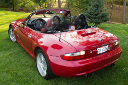 2001 BMW M Roadster in Imola Red 2 over Imola Red & Black Nappa