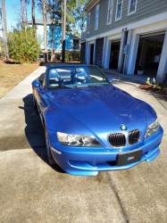 2001 BMW M Roadster in Estoril Blue Metallic over Estoril Blue & Black Nappa