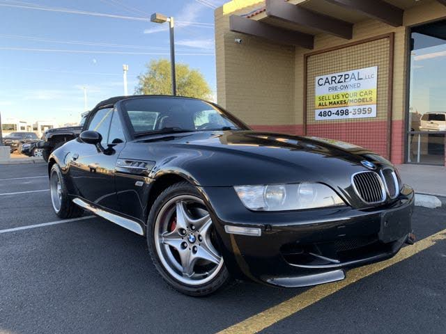 2002 BMW M Roadster in Black Sapphire Metallic over Imola Red & Black Nappa