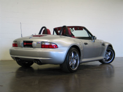 2002 BMW M Roadster in Titanium Silver Metallic over Imola Red & Black Nappa
